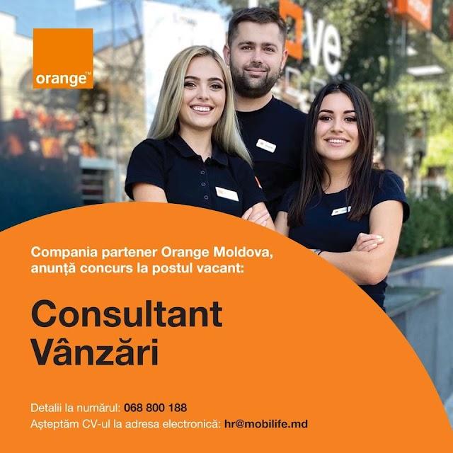 Oferta de munca in magazinul partener Orange