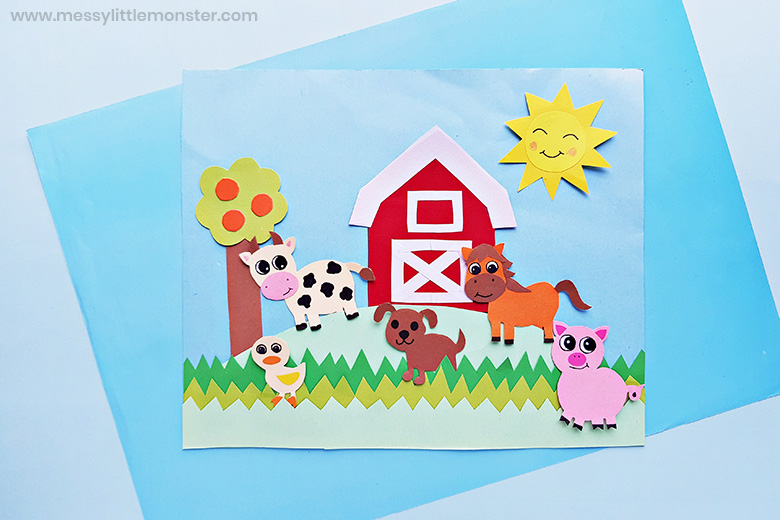 fam animal paper craft for kids