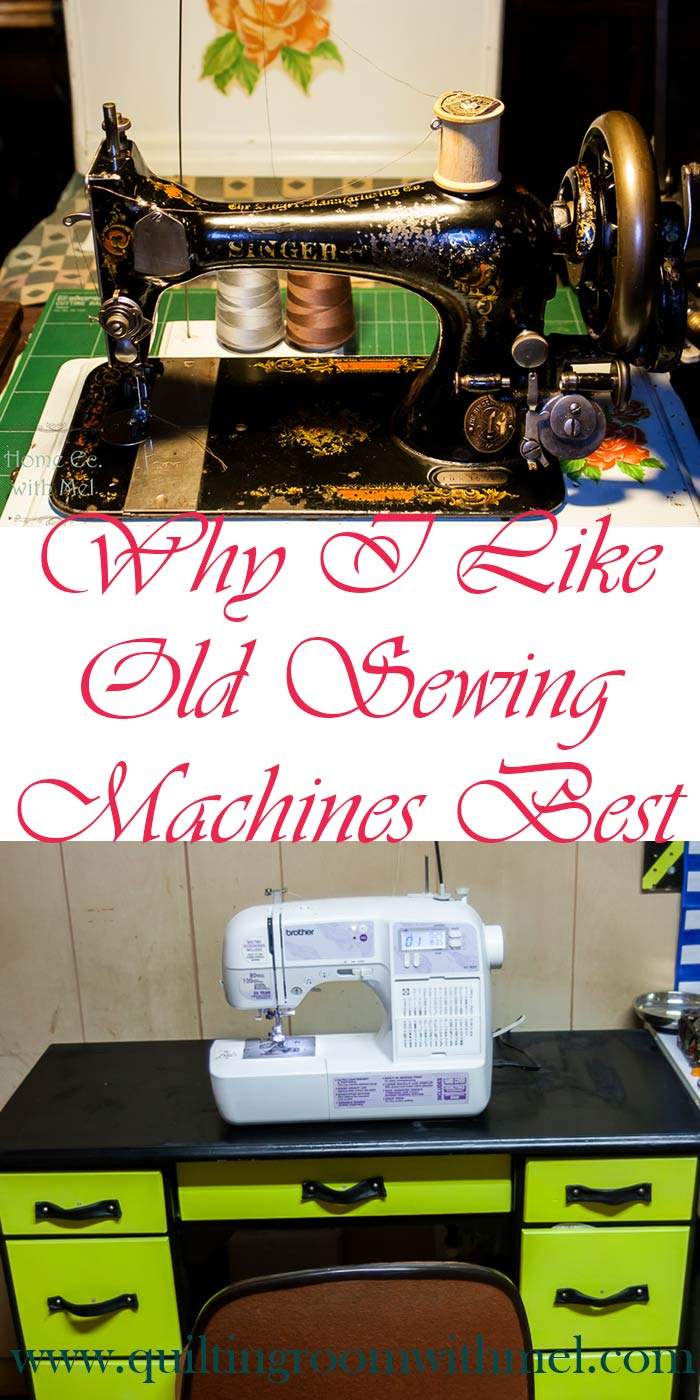 why i use vintage sewing machines