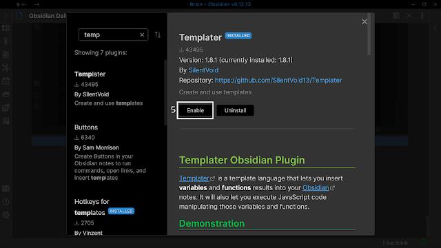 Install Templater 3