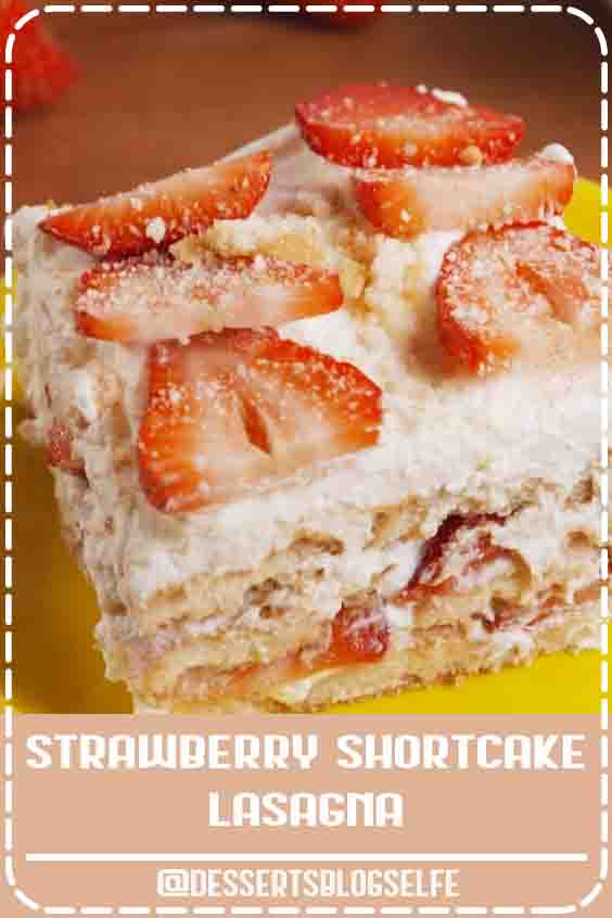 Check out this super-cute and easy recipe for strawberry shortcake lasagna from Delish.com! Easy to make, hard to resist. This no-bake Strawberry Shortcake Lasagna is all you need for your springtime party. Get the recipe at Delish.com. #DessertsBlogSelfe #delish #easy #recipe #nobake #dessert #dessertrecipe #DessertsforParties #easy #sweetsrecipe