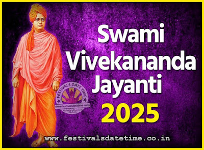 2025 Swami Vivekananda Jayanti Date & Time, 2025 National Youth Day Calendar