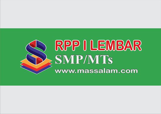 Download RPP 1 Lembar K13 SMP dan MTs 2021/2022 Revisi Terbaru