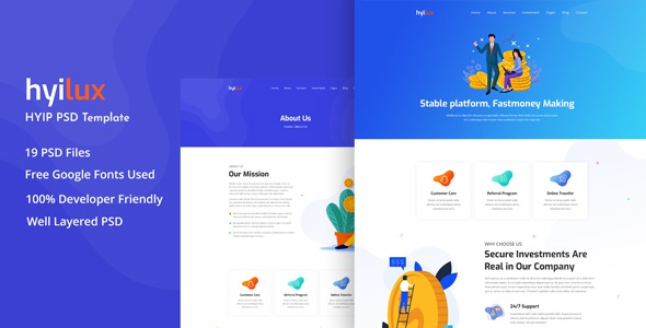 Investment Business Template