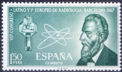 Spain 1967 MNH, Radiology Congress, Radiology Congress, Röntgen, Medicine