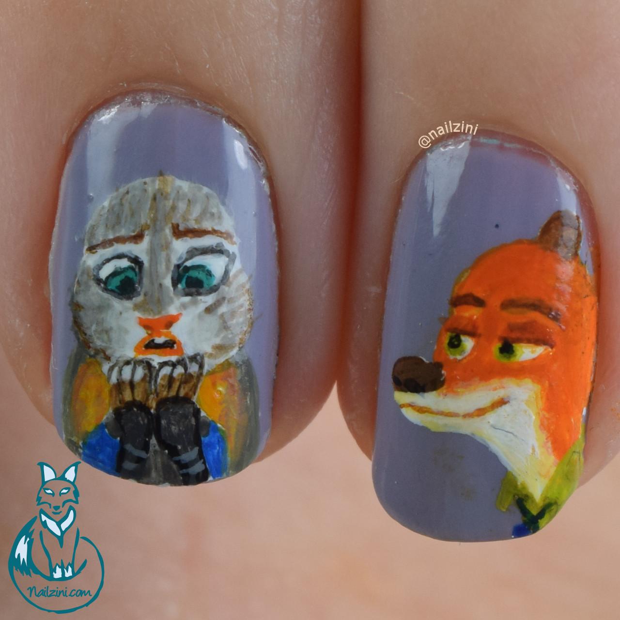 Zootopia Nail Art