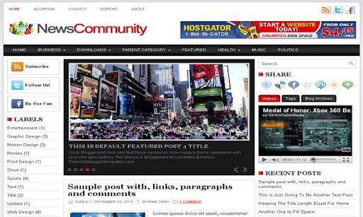 News Community Blogger Template