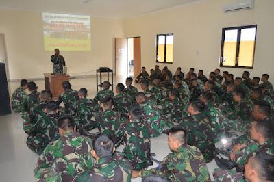 Komandan Batalyon Inftanteri 9 Marinir Adakan Apel Organik Pasukan dan Gelar Material Tempur