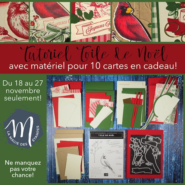 Tutoriel Toile de Noël Stampin' Up! avec 10 cartes en cadeau!