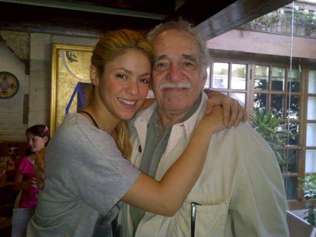 Shakira y Gabriel García Márquez  en Mejico.