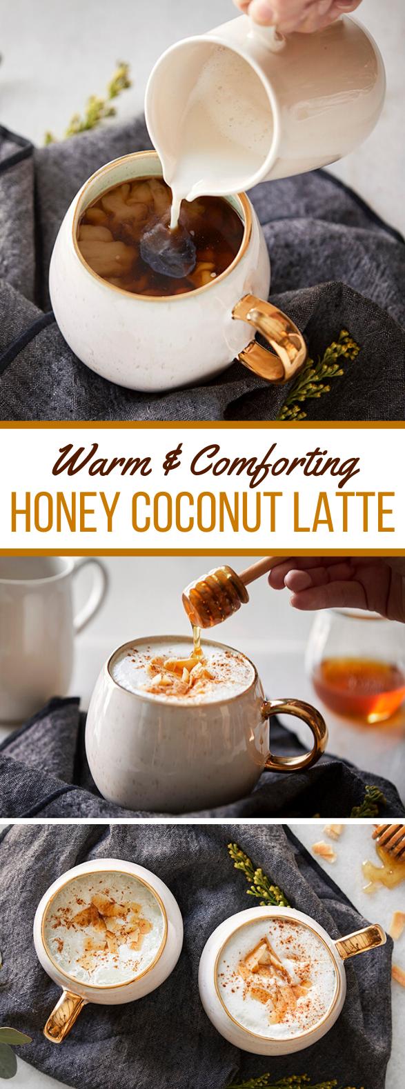 Honey Coconut Latte #drinks #hotdrink