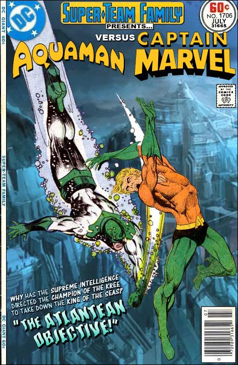 Shazam Aquaman Get New Magazine Covers: Super-Team Family: The Lost Issues!: Aquaman Vs. Captain
