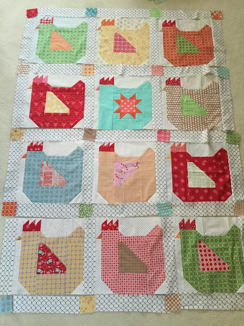 Dream Quilt Create Farm Girl Vintage Mama Hen Quilt Best Chicken Quilt Pattern