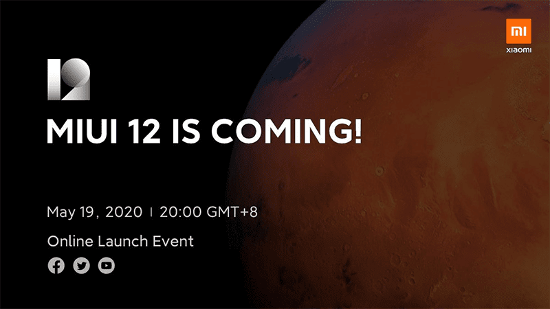 Xiaomi MIUI 12 global launch scheduled on May 19