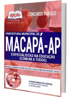 Apostila Concurso Prefeitura de Macapá 2018 Especialistas na Educação