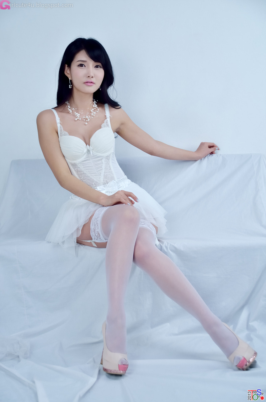 white asian stocking