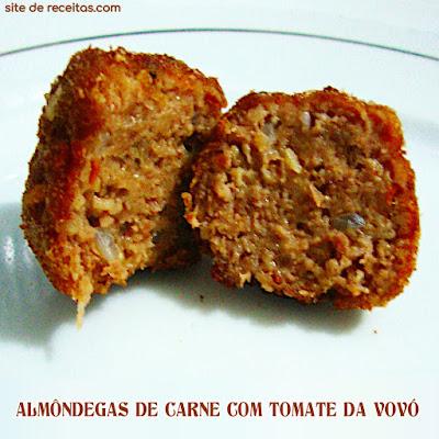 Almôndegas de carne com tomate da vovó