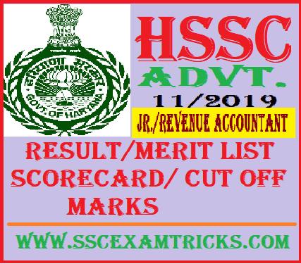 HSSC Revenue Accountant Result