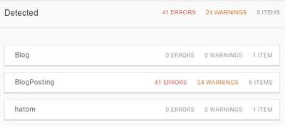 error structured data blog