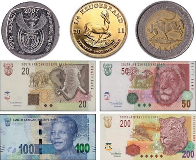 Countries and Currency South African rand