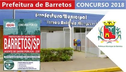 Prefeitura de Barretos Concurso 2018