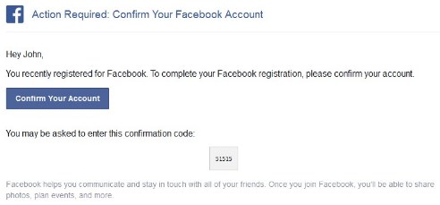 facebook sign up gmail account