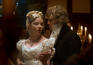 Anya Taylor-Joy and Johnny Flynn during the Highbury Dance in Autumn de Wilde's film, Emma (2020).