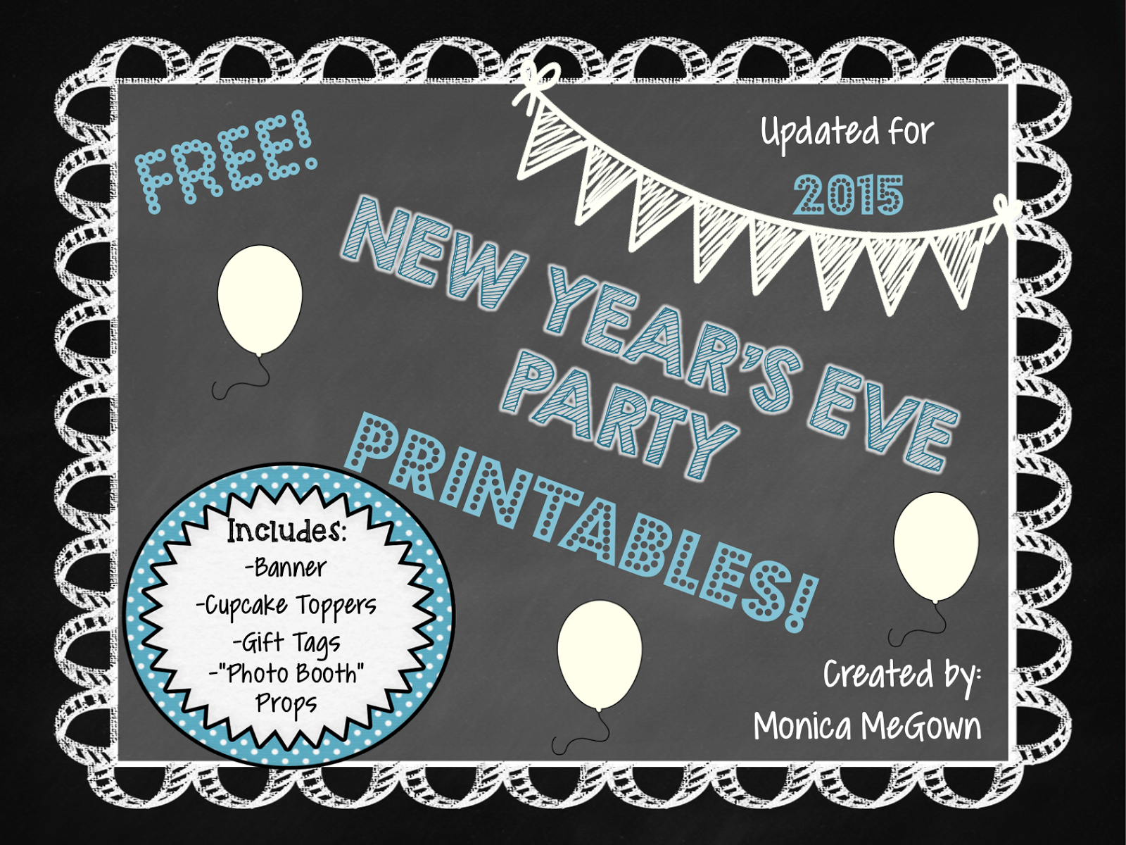 The Megown Family New Year S Eve Party Printables For Free