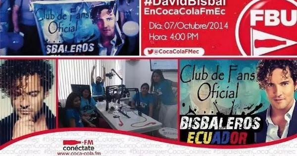 David Bisbal En El Especial Coca Cola Fm Ecuador Con El Club De Fans Oficial Bisbaleros Ecuador 4 00 P M 100x100 Bisbal