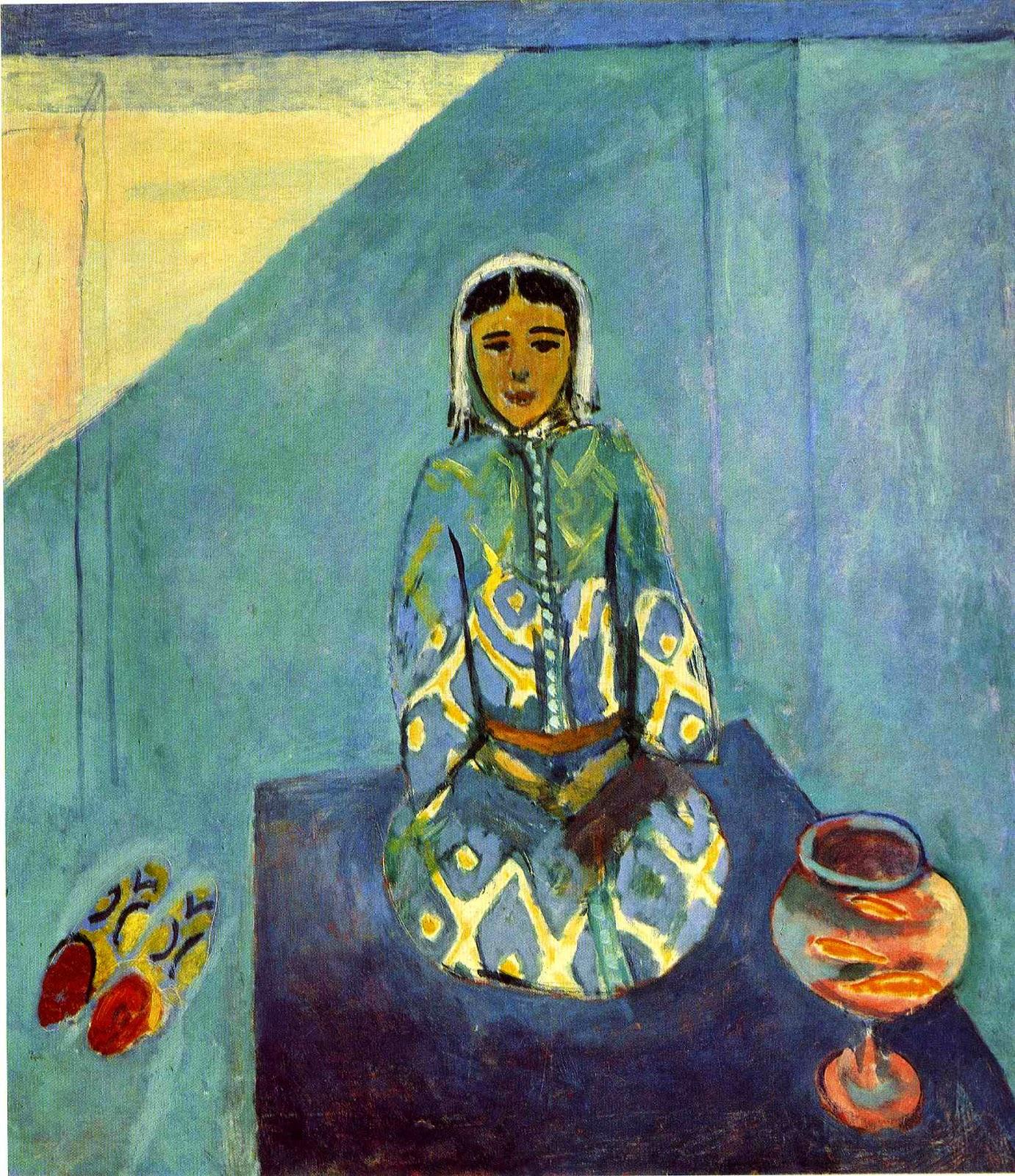 Zorah no Terraço - Pinturas de Matisse, Henri - (Fauvismo) Francês