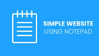 How to make a website using notepad