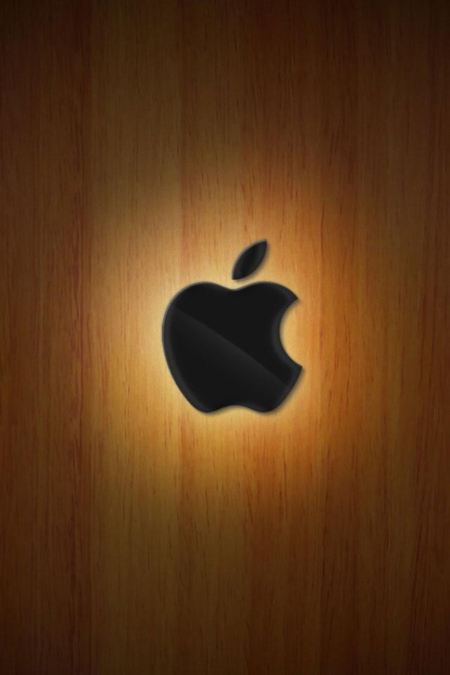 Iphone  S Wallpaper Apple Wood