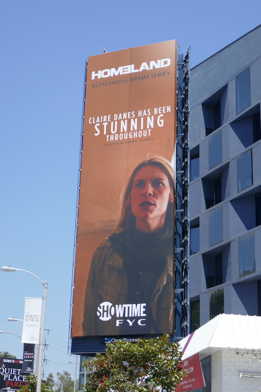 Claire Danes Homeland s8 Emmy FYC billboard