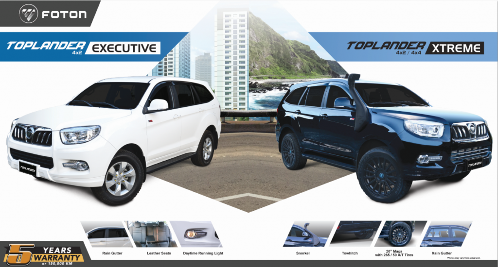 Foton Toplander Executive and Toplander Xtreme