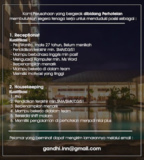 Lowongan Kerja Terbaru SMA SMK D3 S1 Medan November 2019