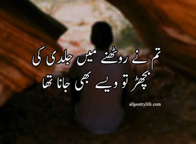 Tum Ne Ruthne Me Jaldi Ki | poetry status for whatsapp in urdu quotes