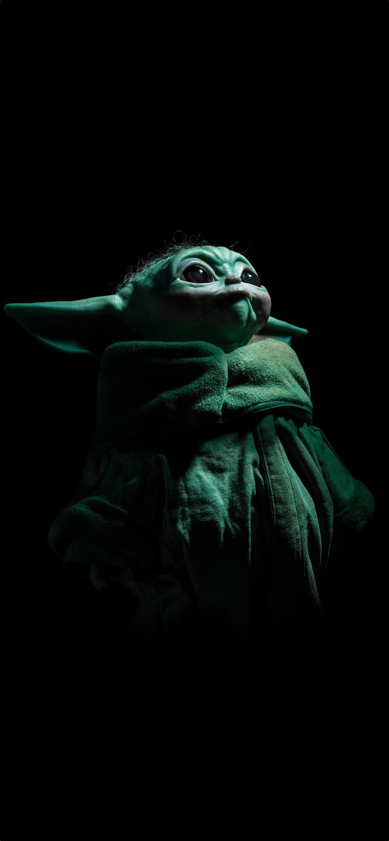 3 Beautiful Baby Yoda Grogu iPhone Wallpapers The Mandalorian 4K ( Star wars )