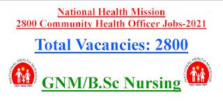 2800 Nurses Recruitment as Community Health Officer in Uttar Pradesh