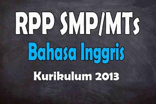 RPP 1 Lembar Bahasa Inggris Kelas 7 Semester 2