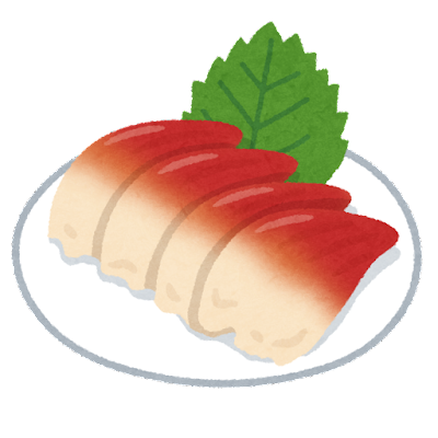 ホッキ貝の刺し身のイラスト