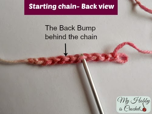 The Back Bump Behind the Chain - Crochet Tutorial