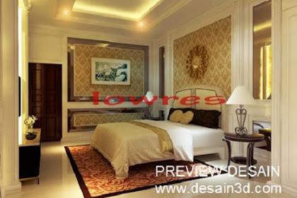 Jasa desain kamar mewah klasik luxury murah berpengalaman