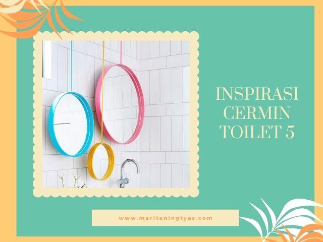 cermin warna-warni toilet