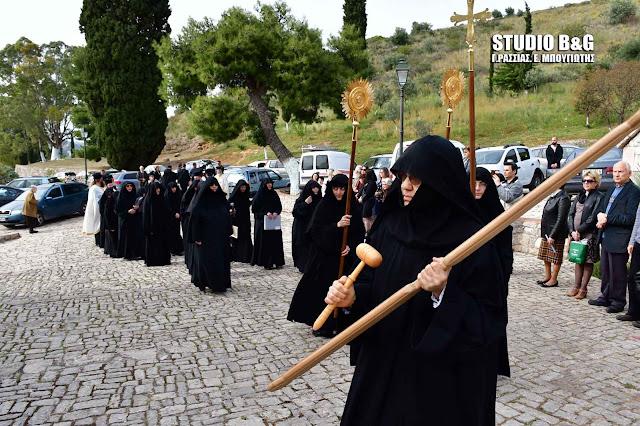Η Εορτή της Ζωοδόχου Πηγής στο Βυζαντινό Μοναστήρι της  Αγίας Μονής Ναυπλίου (βίντεο)