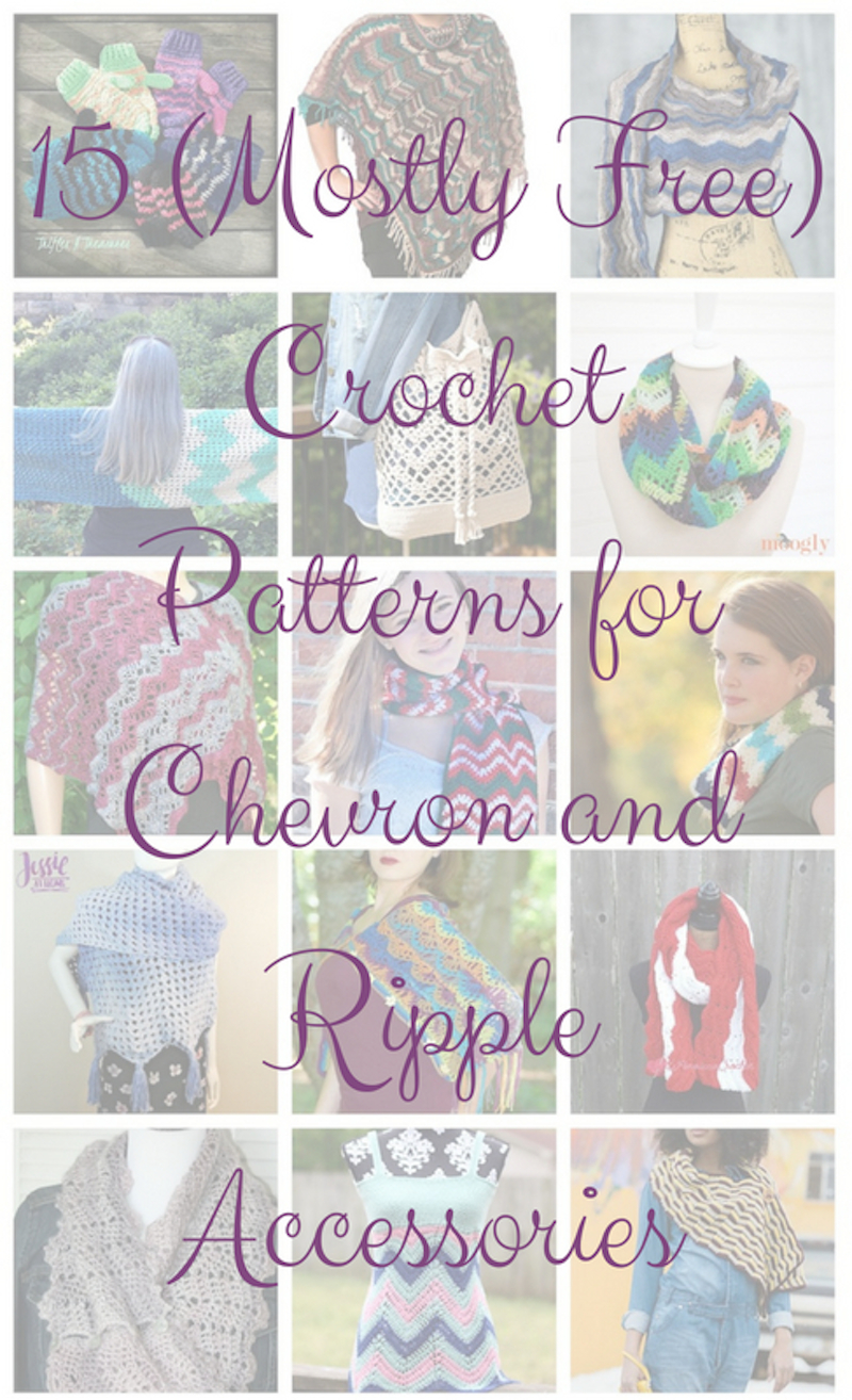 CGOA Now!: 15 (Mostly Free) Crochet Patterns for Chevron and Ripple ...
