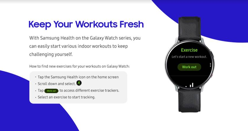 How to Stay Active and Fit at home with Samsung Galaxy Device