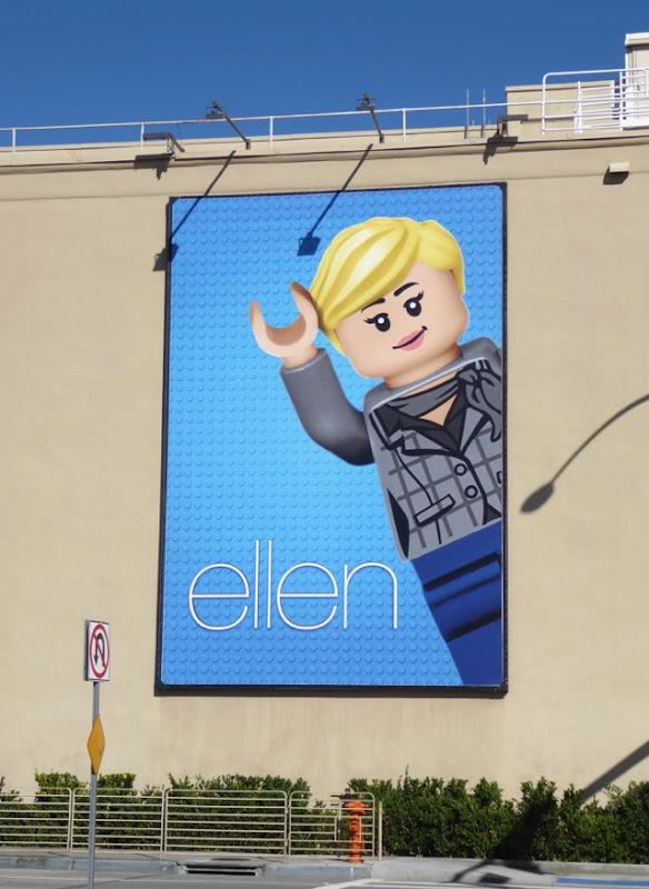 Ellen Lego billboard WB Studios