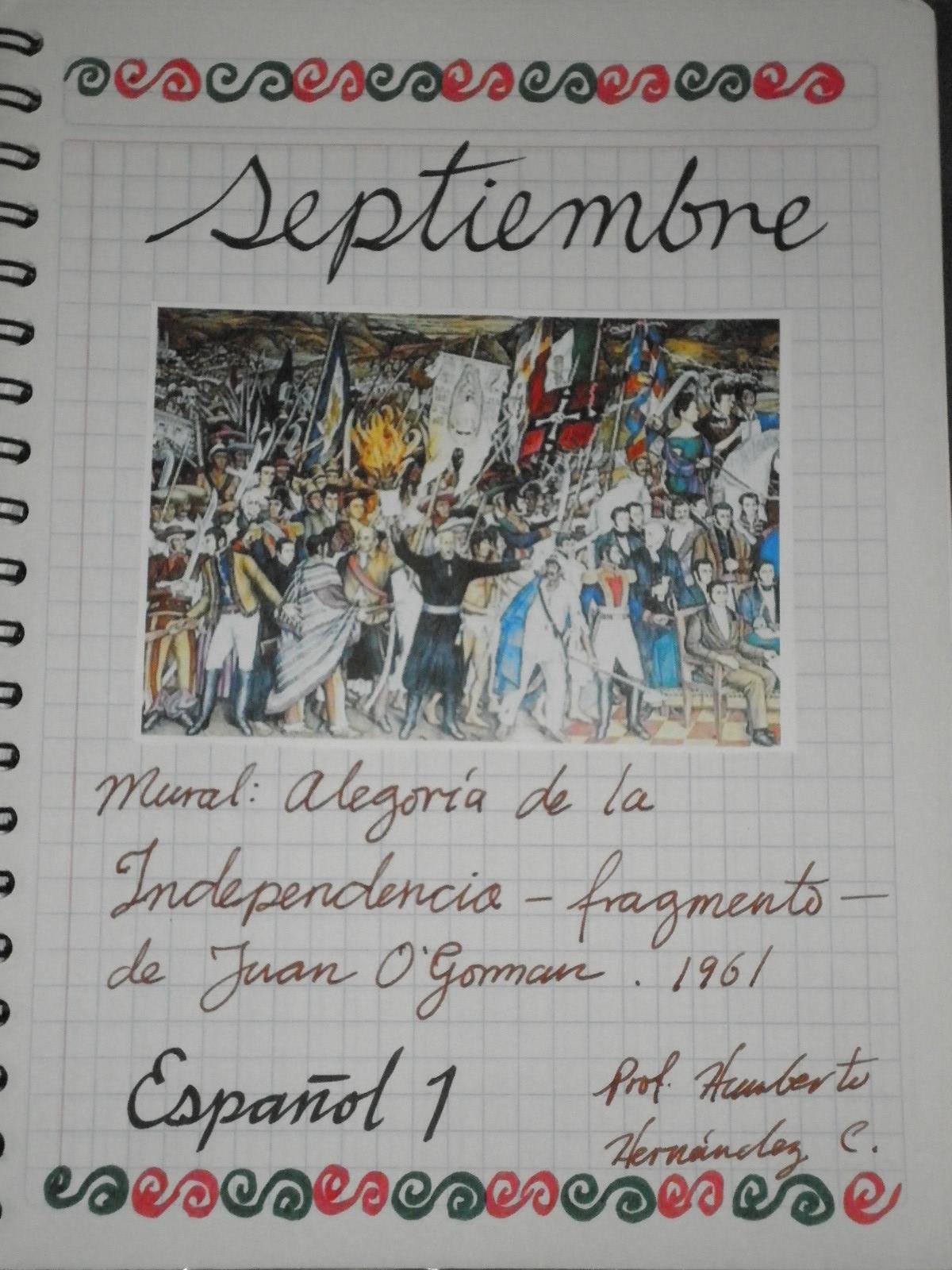 Español Secundaria CMR: Portadas del mes de septiembre