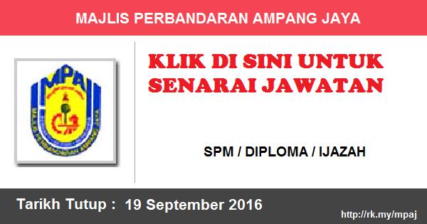 Jawatan Kosong di Majlis Perbandaran Ampang Jaya