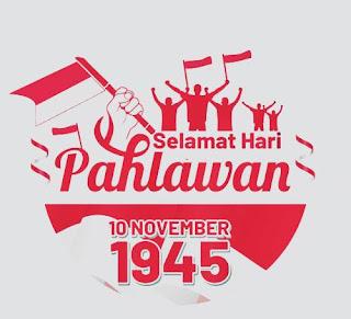 logo hari pahlawan untuk banner png vector